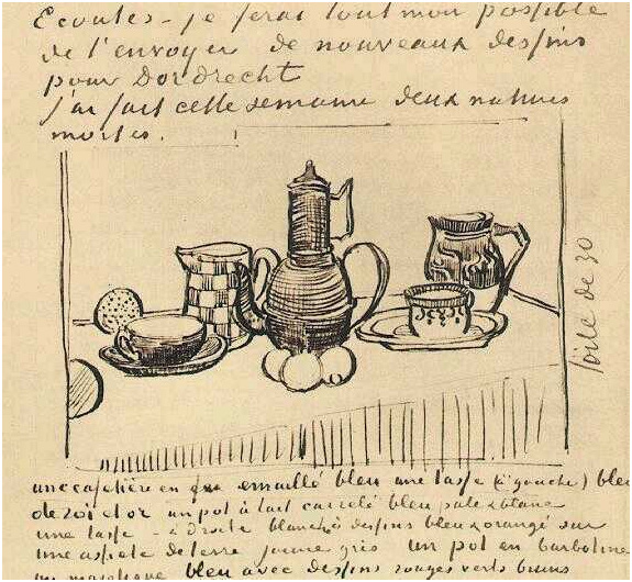 Still Life With Coffee Pot By Vincent Van Gogh 2044
