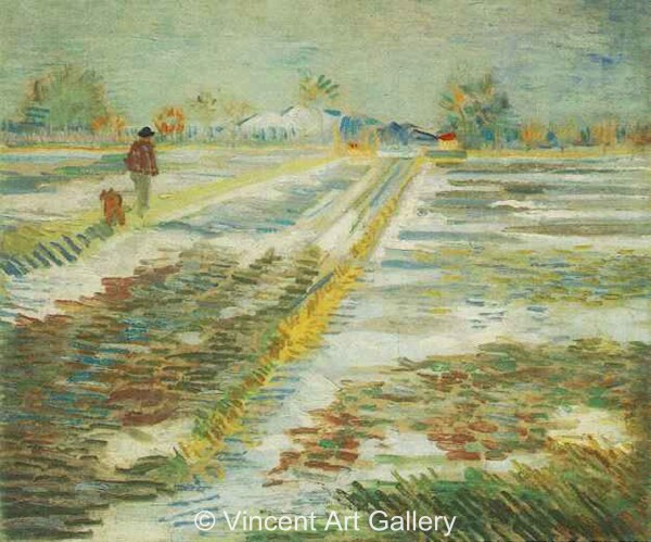 Landscape With Snow Vincent Van Gogh - Oil Painting