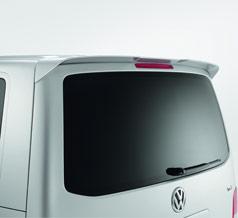 VW T5 Rear tailgate spoiler Deep Black/Candy White/Reflex Silver