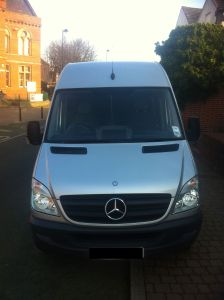 Mercedes Sprinter in silver