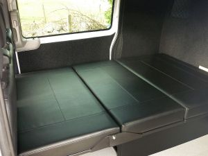 Vito Rock N roll bed trimed to match front seats