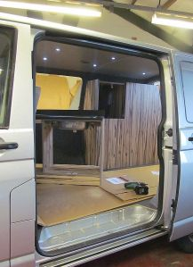 Campervan furniture in two parts
