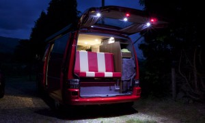 SWB VW T4 3/4 bed and led remote lighting