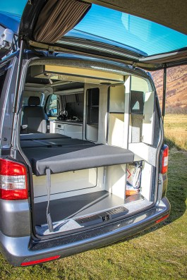 VW T5 Highline Campervan Conversion fitted with RIB bed