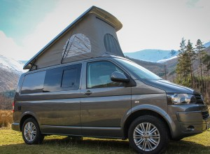 VW T5 Highline Campervan Conversion fitted with SCA 190Comfort pop top roof and is front elevating