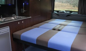 Campervan 3/4 width Rock and Roll Bed fitted with seat belts