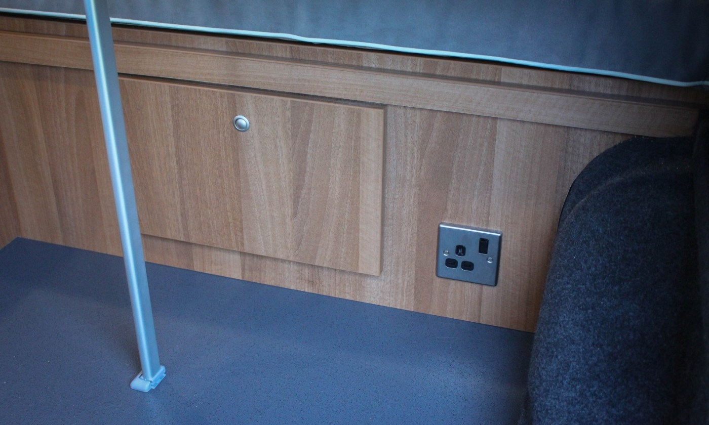 VW T5 Campervan Conversion Comfortline fitted with 240 hook-up electrics