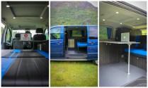 Mercedes Vito Campervan Conversion 3/4 bed Camper furniture sliding table