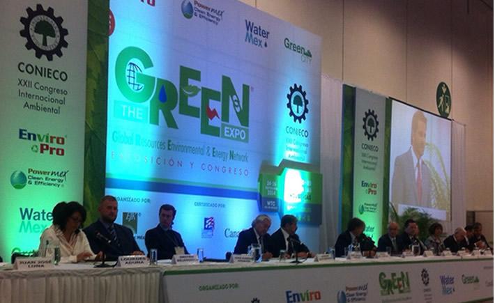 La inauguración de The Green Expo 2014 estuvo a cargo del subsecretario de Gestión para la Protección Ambiental de la Semarnat, Rafael Pacchiano Alaman. (Foto: VI)
