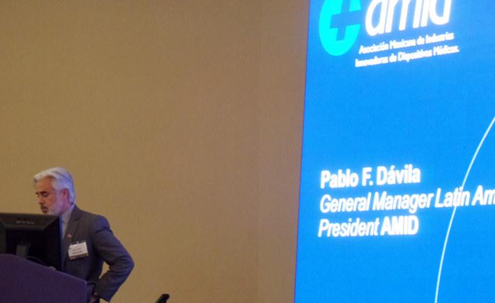 Pablo Dávila Gutiérrez, presidente de la Asociación Mexicana de Industrias Innovadoras de Dispositivos Médicos (AMID). (Foto: AMID)