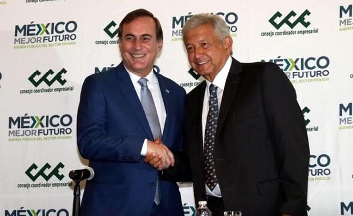 Este 4 de julio el presidente electo de México, Andrés Manuel López Obrador, se reunió con la cúpula empresarial. (Foto: NN.MX )