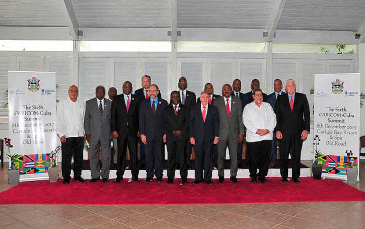 Foto oficial de la Sexta Cumbre Caricom-Cuba.