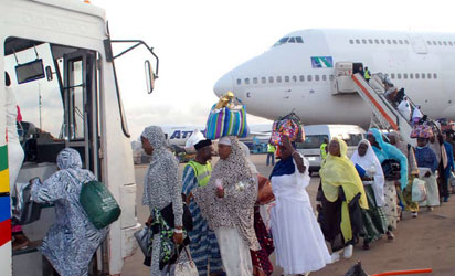 The last batch of 2011 pilgrims to Saudi Arabia by Med-View carrier arrived the Murtala Muhammed International Airport, Ikeja, Lagos recently.