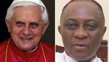 Pope Benedict XVI and Archbishop Adewale Martins of Lagos Metroplitan See