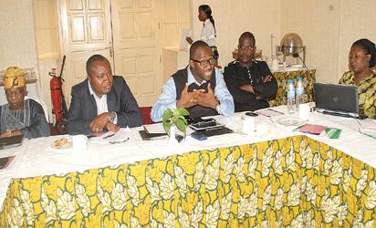 From left: Alhaji Lai Mohammed, National Publicity Secretary ACN, Tope Shaba, Sam Itodo, Ishiaka Yakubu and Mrs Toyin Adewale