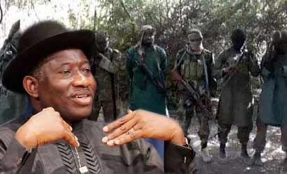 President Goodluck Jonathan and the 'ghosts'  Boko Haram
