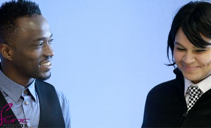 *A screen shot from the movie showing Utaka and an actress