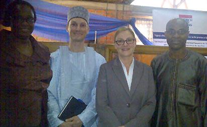 *From left: Mrs. Remi Ihejirika,FES official; former FES rep, Mr. Thomas Mattig,  the new rep, Mrs.Seija Sturies and Professor Abubakar Momoh of LASU