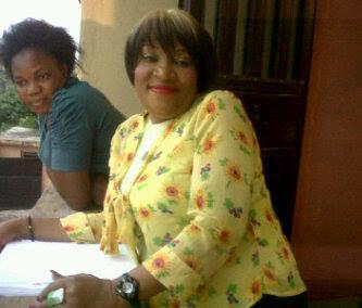 Ngozi Nwosu on set