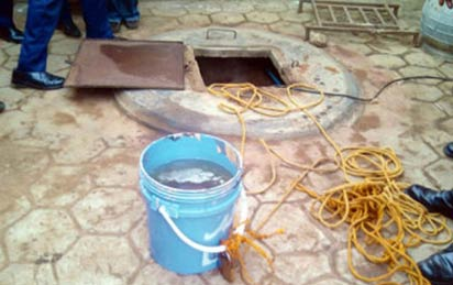 he underground well polluted with fuel at Ejigbo Local Council Development Area, LCDA.