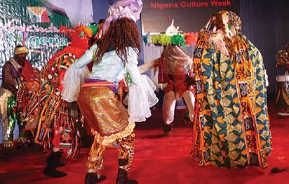 *A cultural performance by the National Troupe of Nigeria