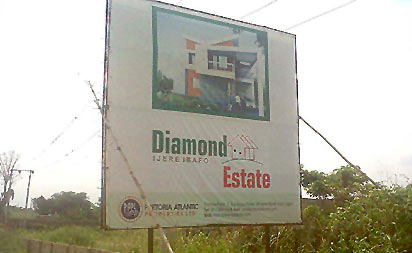 *Diamond Estate site at Ijere, Ibafo.