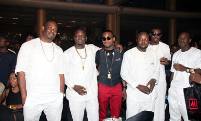 Don Jazzy, D'banj, Dr Sid at Ice Prince F
