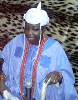 *The new regent, Princes Adetutu Adesida Ojei