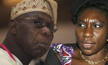 Olusegun Obasanjo and Iyabo Obasanjo