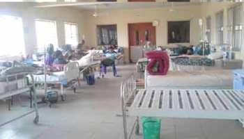 A virtually empty ward at the  FMC, Abeokuta.