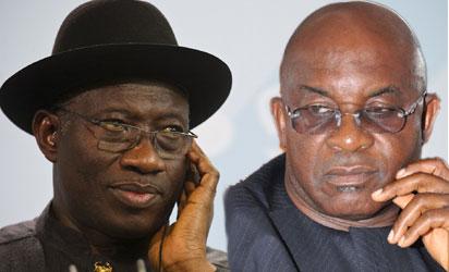 President Goodluck Jonathan and Senate President, Sen. David Mark