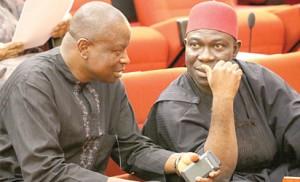 •Senators Ayogu Eze and Ike Ekweremadu who is the deputy Senate President