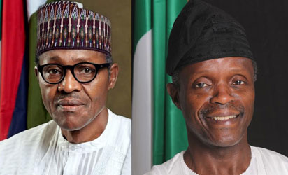 OFFICIAL PORTRAITS OF BUHARI, OSINBAJO