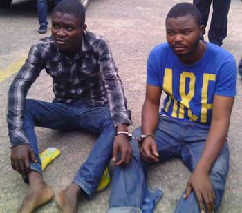 poison: The suspects, Victor Hounkpe (right) and David Amusu.