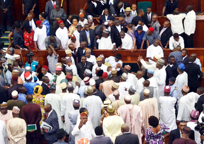 The House of Reps yesterday.