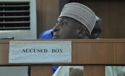 Senate President, Senator  Bukola Saraki Docked by Code of Conduct Tribunal in Abuja. Photo by Gbemiga Olamikan