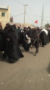 Protesting members of the Shiite sect