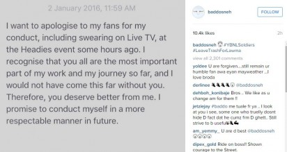 Olamide apologises to fans over Headies' outburst with Don Jazzy