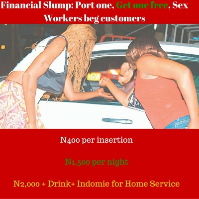 Financial Slump- Port one, Get one free — Sex Workers