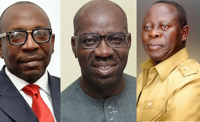 EDO 2020:  PDP positions  to benefit from APC's indiscretion as factions move to disqualify Obaseki, Ize-Iyamu
