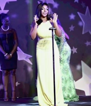 Yvonne Okoro during the Awards in Ghana