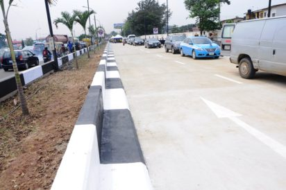 Newly built Slip Road at Alapere, Ketu by Lagos State Government commissioned on Saturday, September 17, 2016.