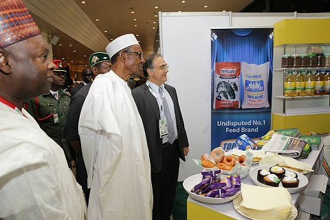 """President Buhari participates at the 22nd Nigerian Economic Summit (NESG 2016) themed """"Made in Nigeria"""" at the Transcorp Hilton Hotel in Abuja on 10th October, 2016."""