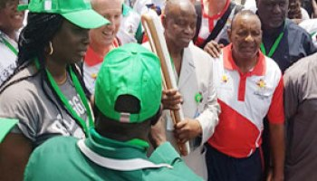 Image result for Ambode to receive Commonwealth baton in Alausa