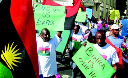 Biafra prostesters