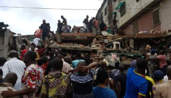 Image result for Four-storey building collapses in Lagos