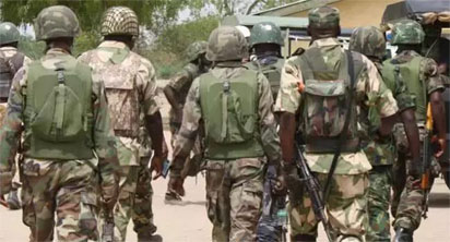 soldiers in Yobe