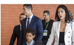 Cristiano Ronaldo and his family