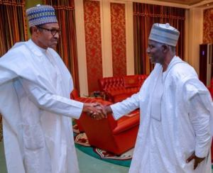Buhari and new DG DSS Yusuf Bichi