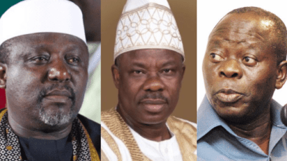 Okorocha, Amosun and Oshiomhole